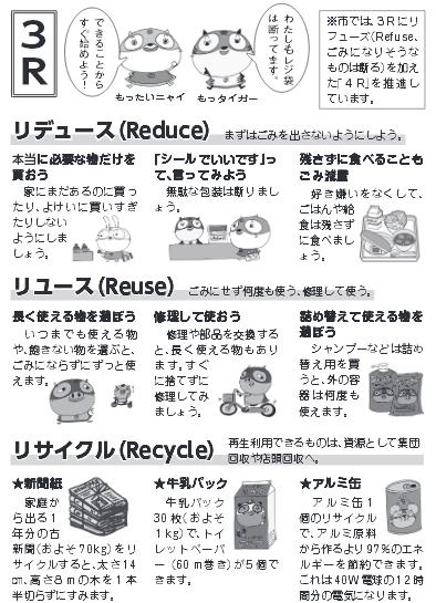 ごみの減量・資源化を目指す 3R