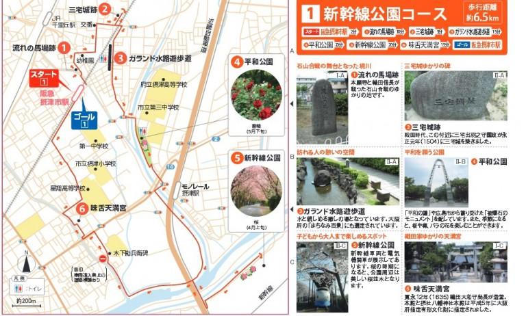 新幹線公園コースマップ