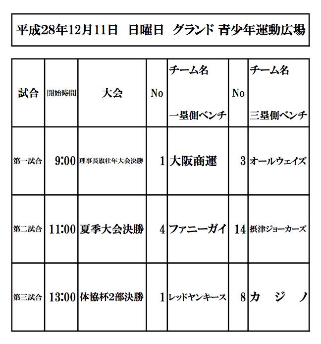 軟式野球大会のお知らせ(12月11日(日)青少年運動広場)