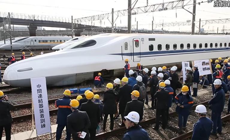 新幹線総合事故復旧訓練