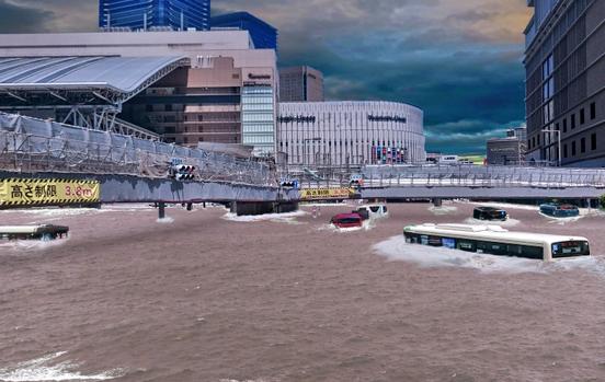 JR大阪駅周辺 浸水後