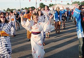 ダイキンアメリカ社の盆踊り大会