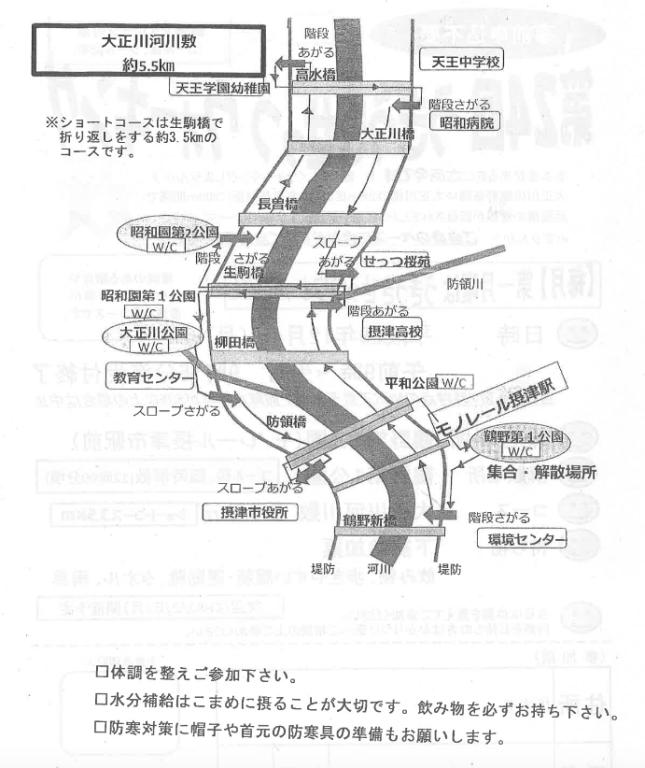 大正川河川敷コース