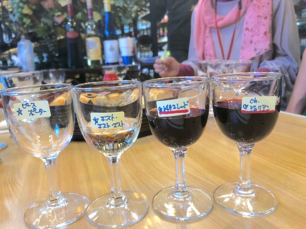 ワイン4種飲み比べ