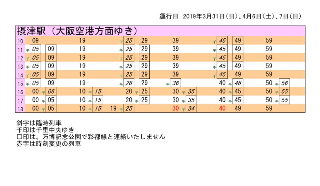大阪空港方面 摂津駅