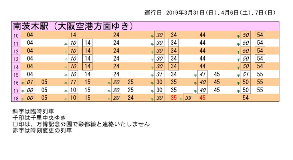 大阪空港方面 南茨木駅