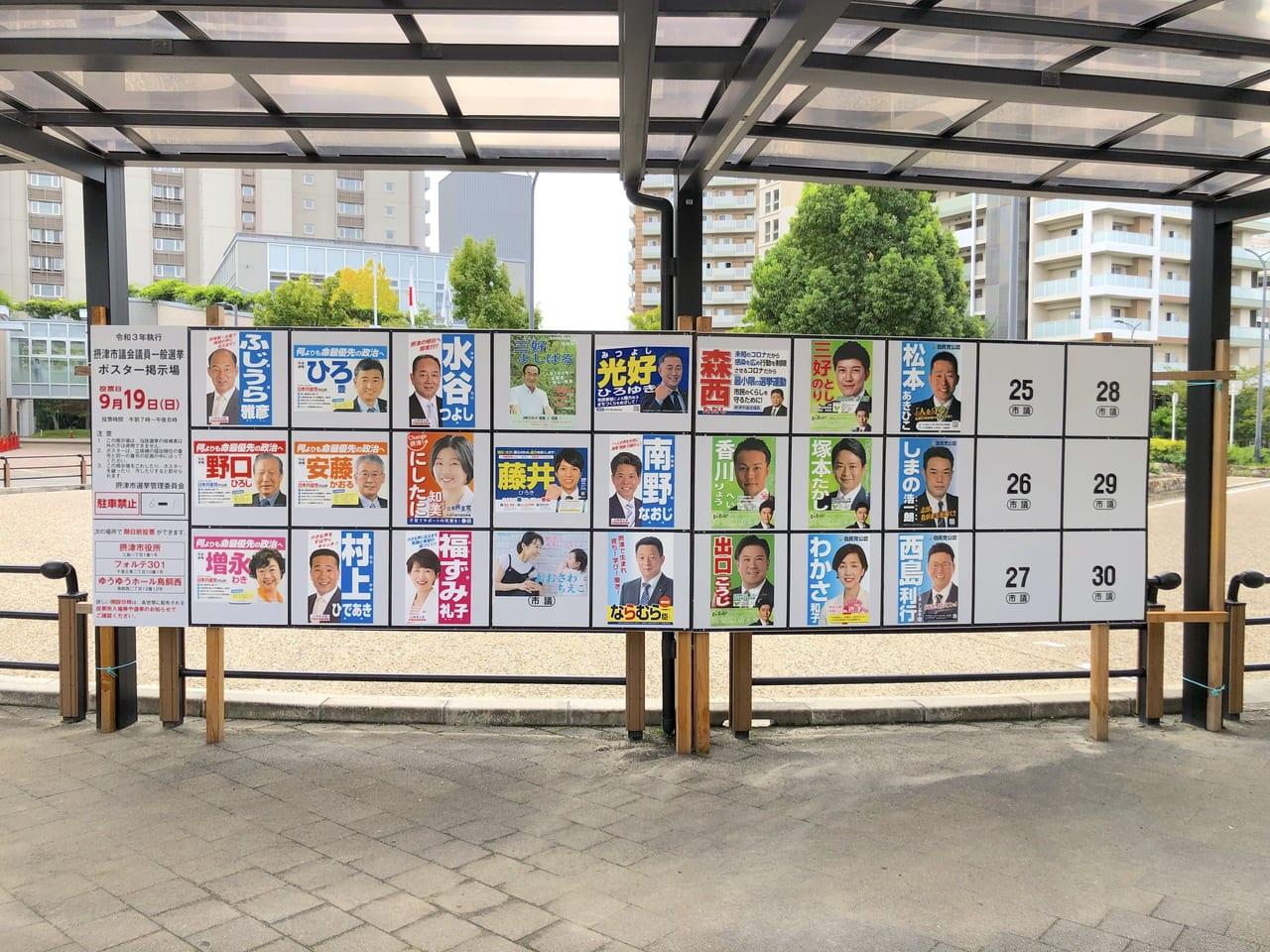 2021摂津市議会議員一般選挙候補者